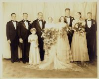 Wedding of Jock Waugh and Winifred Russell, June 29, 1938