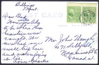 Postcard from Agnes Waugh to John Waugh