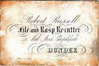 Robert Russell, File and Rasp Re-cutter
